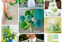 Matrimonios azules y verdes