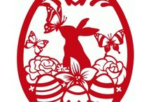 stencil Húsvét