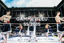Moncler Gamme Bleu SS 2015 Show / Inspired by the sport of boxing, for Spring-Summer 2015, Thom Browne drew the wardrobe of a well-dressed boxing team. A tailored performance that celebrates boxing while staying true to the Moncler spirit.  More on http://moncler.com/