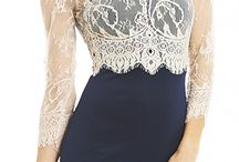 lace cream black dress