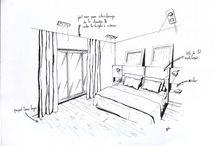 Croquis d'architecte : Aménager votre intérieur simplement! / Faux plafond, meuble encastré, spots de lumière spécifique, délimitation plafonnée, notre architecte vous offre ces quelques petits croquis !