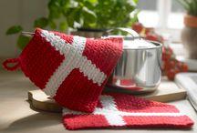 Hæklet grydelapper, klude og håndklæder