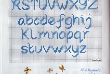 alfabeti punto croce