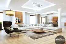 Luksusowe wnętrze w beżach i brązach / Kolejna nasza propozycja to luksusowe, przestronne wnętrze w którym dominują kolory brązu i beżu nadające mu ciepła. Głównym materiałem jest drewno, które dodatkowo potęguje wrażenie przytulności pomimo wielkości wnętrza.   Po więcej inspiracji zapraszamy na naszą stronę: http://monostudio.pl/portfolio_item/luksusowe-wnetrze-domu-bezach-brazach/ oraz na Facebooka