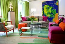 Colorful Living Room & Houses