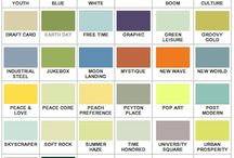 Colour swatch / Collection of thematic colour swatches for use in design.