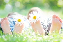 Spring Season / Spring feelings - nature - flowers - blossoms - warm sunshine - happy people and children