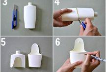Использовать пластиковые контейнеры