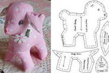Animais em tecido