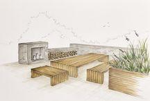 garden. conceptions. outdoor furnitures