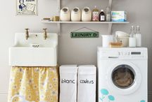 My Tiny Laundry Room / I have a tiny laundry room, and a stacked washer/dryer... I need more storage space, and this is the place where I'm going to get it!  / by Jesyka D'Itri Marés