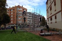 Rampa para Gijón / Montaje de una #rampa para deslizarse en Gijón
