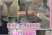 zilver glitter glas