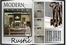 Design Trend: Modern Rustic & Raw Modernism / The Modern Rustic Design trend is a great take on Raw Modernism. A little industrial & a little rustic, wood & metal, natural & repurposed.