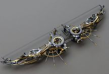 Steampunk / Victorian fashion meets spare clock parts. Shouldn't be cool but it totally is.