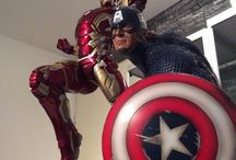 Iron Man and Captain America 1/4 scale Collectibles