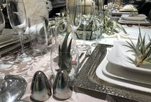 Table Settings with Air Plant