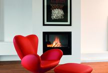 Red and White interior inspiration