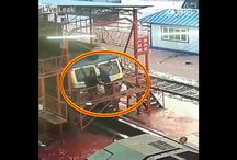 Viral Video - VIDEO - Workers Fall In Ditch When Platform Suddenly Opens