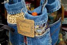 copri bottiglia in jeans