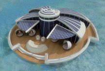 Floating home / Projects & real floating homes