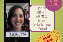 Productivity Apps Webinar / Highlights from my Productivity Apps Webinar on February 26th, 2014!  Check out the full presentation here: http://www.listproducer.com/events/