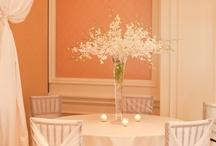 WHITE decorations/centrepieces/set up