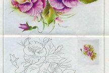 diseño de flores para pintar