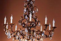 Wrought iron chandeliers / Handmade chandeliers in wrought iron