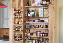 Food storage cupboards
