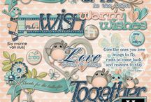 Wings and Wishes Digital Scrapbooking Collection by Kathryn Estry