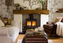 Fireplace decor / by Mary Kay Anderson