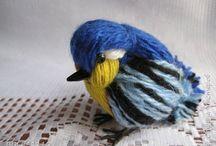 ptaszki z włóczki