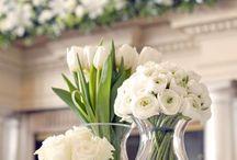 bloem decoratie in vazen