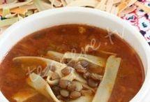 çorba yeşil mercimekli ve erişteli