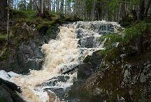 Katajapuron putous / Katajapuron vesiputous Naarvan kylän alueella Ilomantsissa