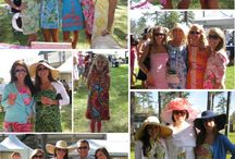 Carolina Cup! / We love the Carolina Cups. I grew up going to the Cup. Raised in South Carolina we would all get a new dress and hat for the Cup! Enjoy our pin from past years.
