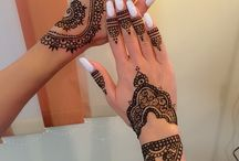 Nails & henna tattoo / #nails #henna #tattoo #white #nails&henna #manualpainting #nailboutiquecluj
