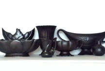 Old Black vases