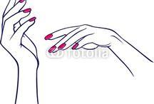 nail polish hands