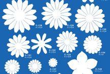 Šablona na květy