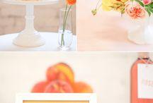 yellow orange wedding ideas