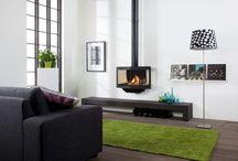 Hangende gashaarden / Wanders fires & stoves  Gashaarden die snel en makkelijk te installeren zijn omdat ze simpelweg aan de wand worden gehangen. Daarnaast ook nog eens mooi van ontwerp.
