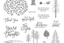 Thoughtful Branches / August 2016 Promotion from Stampin' Up!  Get this exclusive stamp set and matching dies.  So many possibilities!