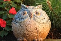 сова скульптура в сад