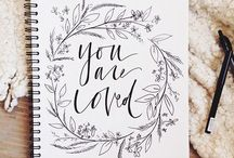 lettering inspo: calligraphy + wreaths / Let's be honest. Flowers and calligraphy just go way too well together. So here's a board dedicated to just that.