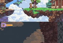 Pixel art environments