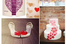 WEDDING   Romantic Hearts / There's nothing more romantic than a wedding with a heart theme. Create invitations, stationery and decor to go with your theme.
