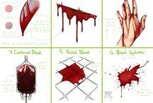 Blood, marks