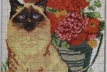 Keresztszemes minták (macska)